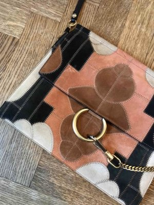 Chloé Faye bag in patchwork suede