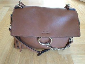 Chloé Shoulder Bag gold-colored-cognac-coloured leather