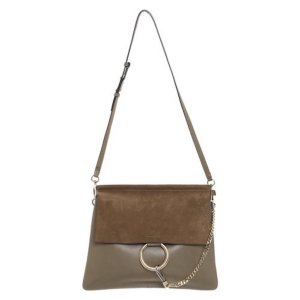Chloé Faye Shoulder Bag oliv