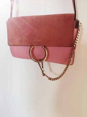 CHLOÉ  FAYE SMALL CROSSBODY BAG WASHED PINK