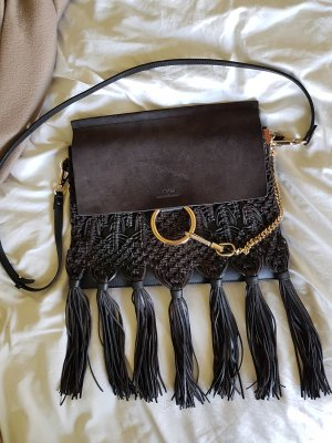 Chloé Fringed Bag black-anthracite leather