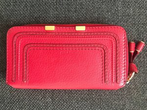 Chloé Wallet dark red-gold-colored
