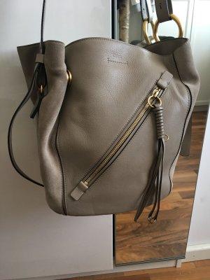 Chloé Handbag grey brown leather