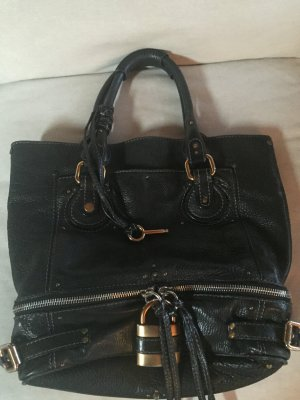Chloé Handtasche - Paddington Zip Tote Leather Large- Black mit passender Geldbörse