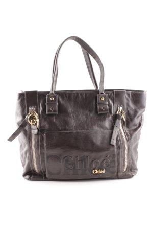 Chloé Handtasche schwarzbraun schlichter Stil
