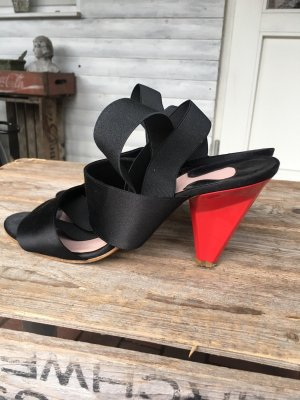 Chloé Tacco alto nero-rosso