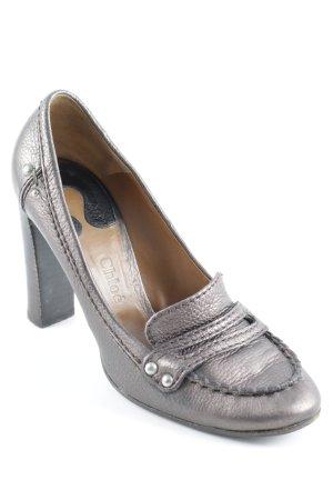 Chloé Tacco alto marrone-grigio Pelle