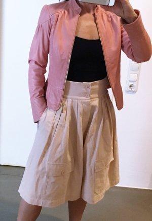 Chloé Short taille haute rose chair-rosé tissu mixte