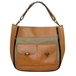 Chloe Hobo XL Tasche aus Leder und Canvas