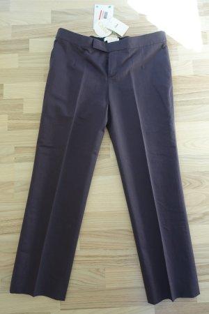 Chloé 7/8 Length Trousers brown violet cotton