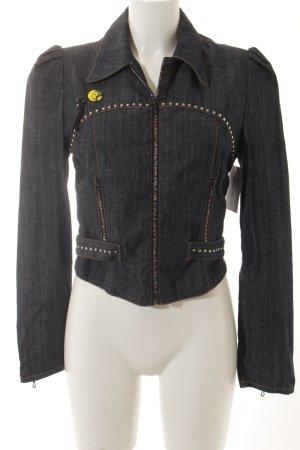 Chloé Veste en jean bleu foncé style décontracté