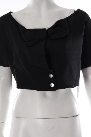 Chloé Kurzjacke schwarz extravaganter Stil