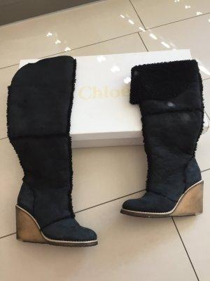 Chloé Fur Boots black