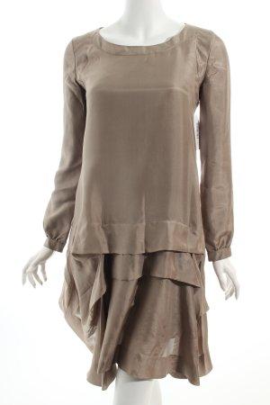 Chloé Langarmkleid graubraun Nude-Look