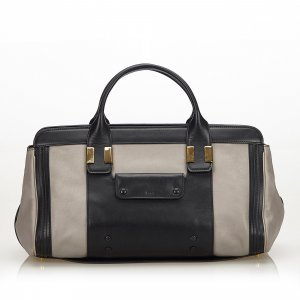 Chloé Satchel light grey leather