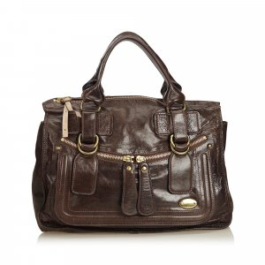 Chloe Leather Bay Shoulder Bag