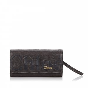Chloe Leather Eclipse Long Wallet