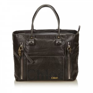 Chloe Leather Eclipse Tote