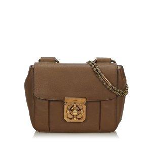 Chloé Shoulder Bag dark brown leather