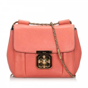 Chloé Shoulder Bag pink leather