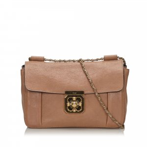Chloé Shoulder Bag beige leather