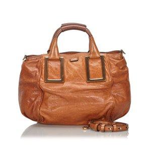 Chloé Satchel light brown leather