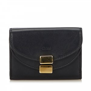 Chloe Leather Georgia Tri-Fold Wallet