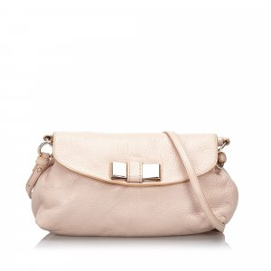 Chloe Leather Lily Bow Crossbody Bag