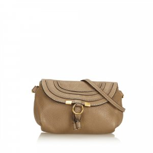 Chloe Leather Marcie Crossbody Bag