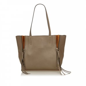 Chloe Leather Milo Tote Bag