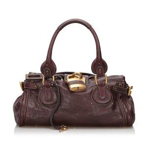 Chloé Handbag bordeaux leather