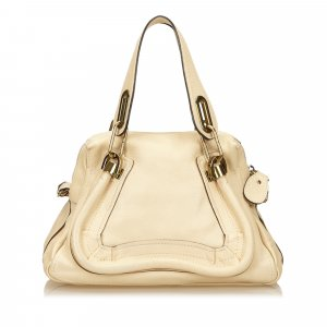 Chloé Handbag beige leather