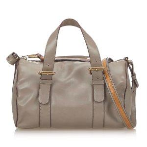 Chloe Leather Sam Bowling Bag