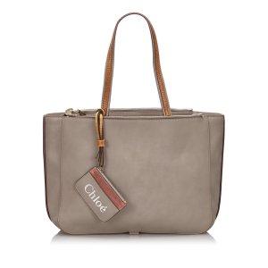 Chloe Leather Sam Tote Bag
