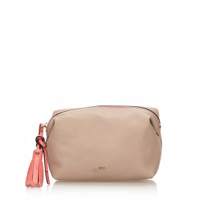 Chloe Leather Tassel Pouch