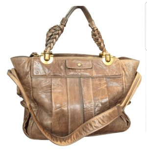 Chloe Lederhandtasche mit goldener Hardware