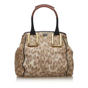 Chloe Leopard Print Leather Ethel Handbag