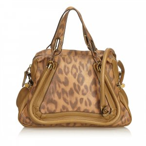 Chloe Leopard-Printed Leather Paraty