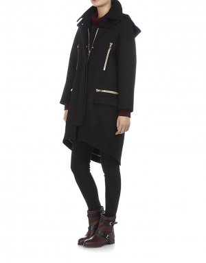 Chloé Long Jacket black wool