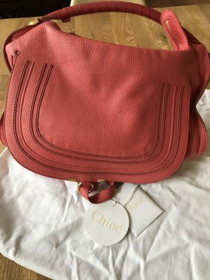 Chloe Marcie Hobo Large Korall rot orange wie neu