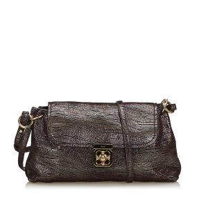 Chloe Metallic Fabric Elsie Shoulder Bag