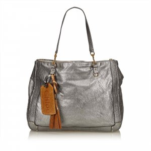 Chloe Metallic Leather Eden Tote