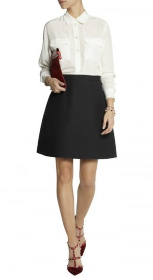 Chloé Midi Skirt black wool