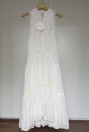 Chloé Vestido a media pierna blanco-blanco puro