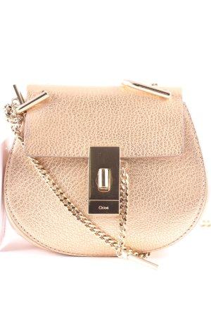 "Chloé Minitasche ""Drew Crossbody Bag Nano Abstract Gold"" roségoldfarben"