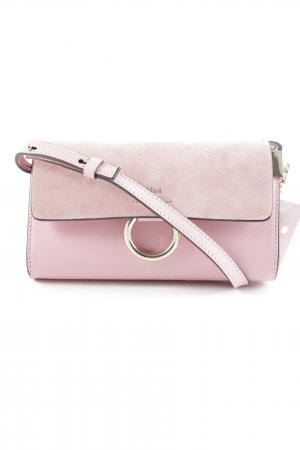 "Chloé Minitasche ""Faye Wallet On Strap Suede Washed Pink"""
