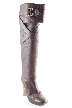 Chloé Overknees braunrot Antik-Look