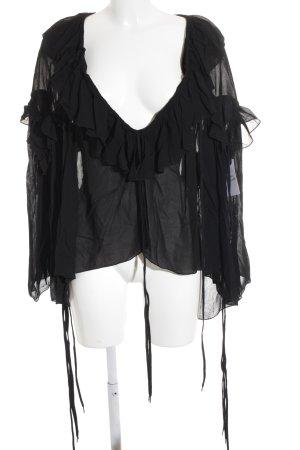 Chloé Oversized Bluse schwarz Boho-Look