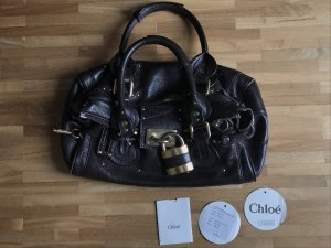 Chloé Handbag dark brown-gold-colored leather