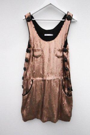 Chloe Pailettenkleid Pailetten See by Chloe Abendkleid Ausgehkleid Partykleid gold